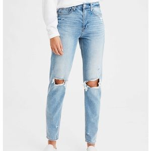 American Eagle Mom Jeans, distressed